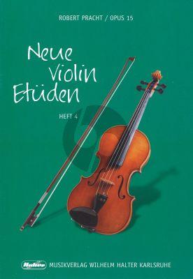 Pracht Neue Violin Etuden Op.15 Vol.4 (Etuden in der 4. bis zur 7.Lage, ausfuhrliche Behandlung 5.Lage)