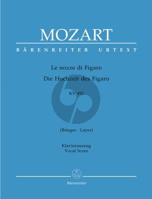 Mozart Le Nozze di Figaro KV 492 Vocal Score (ital./germ.) (edited by Ludwig Finscher) (Barenreiter-Urtext)