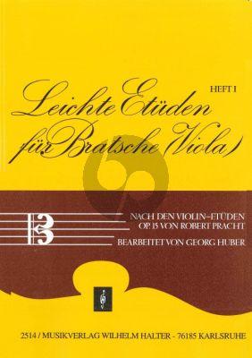 Pracht Leichte Etüden für Bratsche Vol.1 (Viola) (nach den Violin-Etüden Op.15)