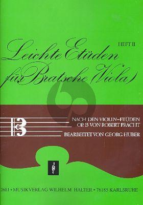 Pracht Leichte Etuden für Bratsche (Viola) Vol.2 (nach den Violin-Etuden Op.15)
