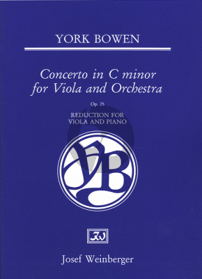 Bowen Concerto Op.25 C Minor (Viola and Orchestra) (Pianoreduction Viola and Piano)