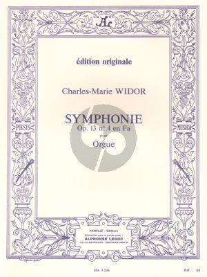 Widor Symphonie No.4 Op.13 No.4 F Major