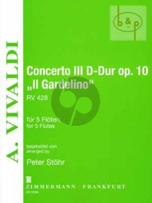 "Concerto No.3 RV 428 D-major ""Il Gardelino"" (5 Flutes)"