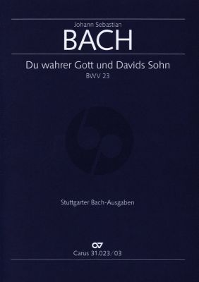 Bach Kantate BWV 23 Du wahrer Gott und Davids Sohn Klavierauszug (deutsch/englisch)