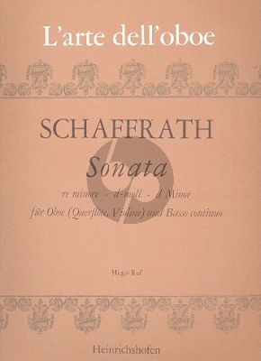 Schaffrath Sonata d-minor Oboe [Fl./Vi.] and Bc (edited by Hugo Ruf)