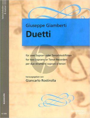 Giamberti Duetti (SS/TT) (edited by Giancarlo Rostirolla)