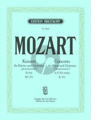 Mozart Konzert KV 271 (Jeunehomme) Es-dur (Ausgabe 2 Klaviere)