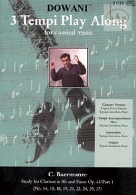 Studies Op.63 Vol.1 (No.14 - 15 - 18 - 19 - 21 - 22 - 24 - 25 - 27) (with Piano)