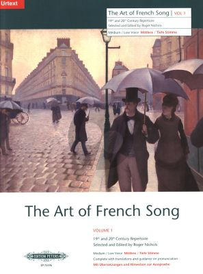 Album Art of French Song Vol.1 24 Songs for Medium- Low Voice (Edited by Roger Nichols) (19th & 20th Century Repertoire)