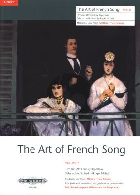 Album Art of French Song Vol.2 - 23 Songs for Medium- Low Voice (Nichols)