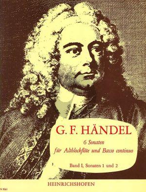Handel 6 Sonaten Vol.1 No.1-2 HWV 360 und HWV 362 (Altblflockflote und Basso Continuo)