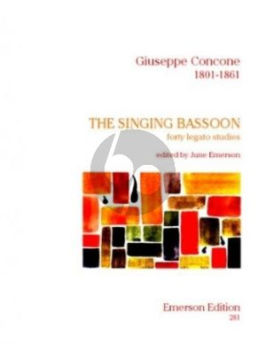 Concone Singing Bassoon (40 Legato Studies) (Emerson)