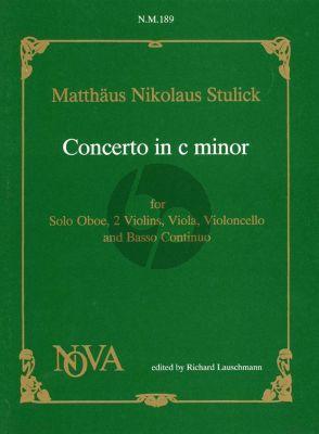 Stulick Concerto a 5 c-minor (Oboe- 2 Violins-Viola-Bc) (red. Oboe-piano) (Lauschmann)
