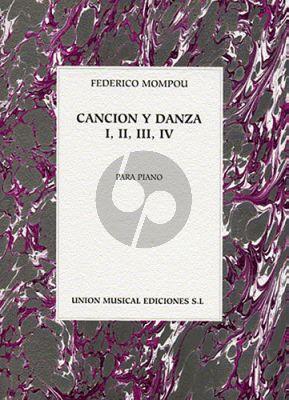 Mompou Cancion y Danza Nos.1-2-3-4 Piano solo