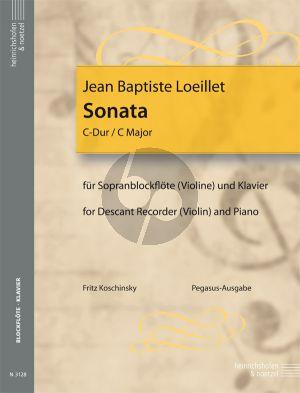 Sonate C dur Sopranblockflote[Violine] und Klavier