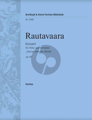 "Rautavaara Konzert Op.69 ""Dances with the Winds"" Flöte-Orchester Partitur"