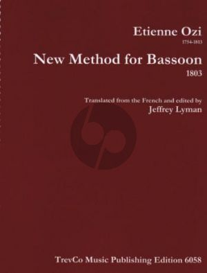 Ozi New Method for Bassoon 1803 (Lyman)
