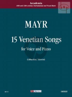 Mayr 15 Canzone Veneziane (edited by Mario Colbacchini and Paola Talamini)