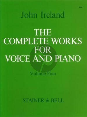 Ireland Complete Works Vol. 4 Medium Voice and Piano
