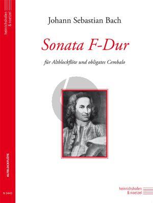 Bach Sonate F-dur BWV 1031 Altblockflote mit obligates Cembalo (Christa Sokoll)