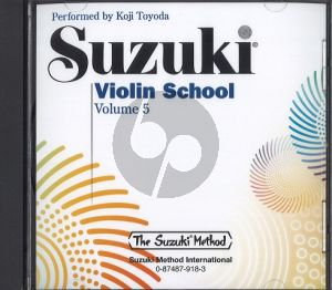 Suzuki Violin School Vol.5 CD Only (played by William Preucil and Piano Accomp. by Linda Perry)