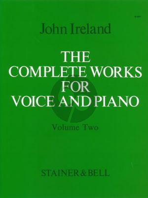 Ireland Complete Works Vol. 2 Medium Voice and Piano