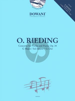 Rieding Concertino G major Op.34 Violin-Piano (Bk-Cd) (Dowani)