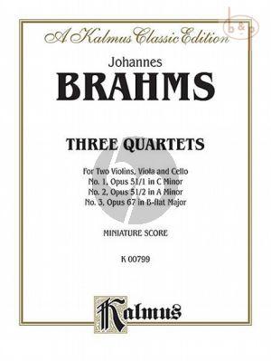 3 Stringquartets (Op.51 / 1 - 2 -Op.67)