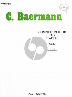 Complete Method Vol.3 (Third Division) Daily Studies Op.63 Clarinet