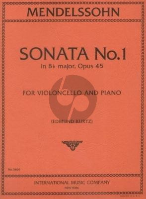 Mendelssohn Sonata No.1 Op.45 Violoncello-Piano (Edmund Kurtz)