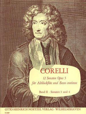 Corelli 12 Sonaten Op.5 Vol.2 (No.3-4 C-Dur/F-dur) fur Altblockflote und Bc (Herausgegeben von Martin Nitz)