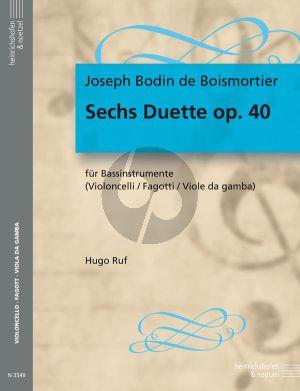 Boismortier 6 Duette Op.40 (2 Violoncellos[Bassoon]) (Hugo Ruf)