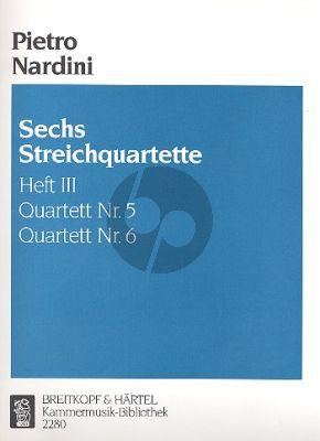 Nardini 6 String Quartets Vol.3 (No.5-6) (G-dur/Es-dur) (Parts)