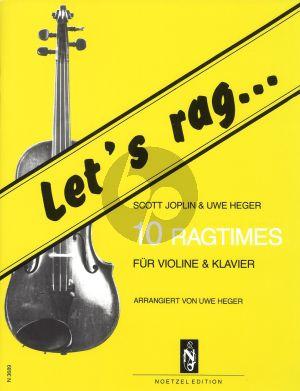 Let's Rag Violin - Klavier (10 Ragtimes by Scott Joplin and Uwe Heger) (arr. Uwe Heger)