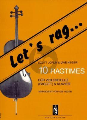 Joplin Let's Rag -10 Ragtimes Violoncello [Fagott]-Klavier (Uwe Heger)