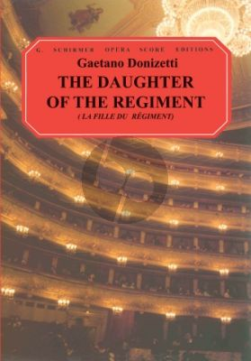 Fille du Regiment (The Daughter of the Regiment) Vocalscore (French/English)