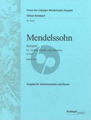 Mendelssohn Concerto d-minor Violin-Piano-Orchestra (red. Violin-Piano-Piano[as reduction of the Orch.]) (edited by Chr.Hellmundt)