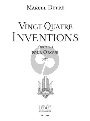 24 Inventions Opus 50 Vol. 1 Orgue