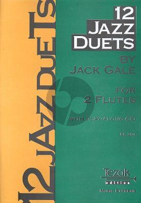 Gale 12 Jazz Duets 2 Flöten Buch mit CD
