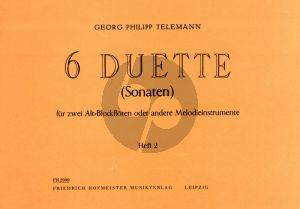 Telemann 6 Duette Vol. 2 No. 4 - 6 2 Altblockflöten (Hans-Ulrich Niggemann)