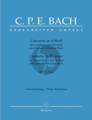 Bach Konzert d moll BWV 1052A nach J.S.Bach (Urtext)