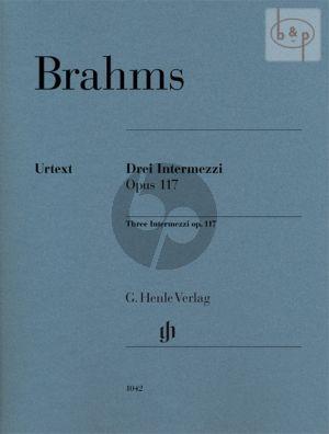 3 Intermezzi Op. 117 Klavier