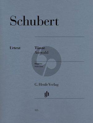 Schubert Tanze Auswahl Klavier (ed. Paul Mies) (Henle-Urtext)
