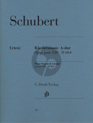 Schubert Sonate A-dur Op.posth Op.120 D.664 Klavier (Herausgegeben von Paul Mies - Fingersatz Hans-Martin Theopold) (Henle-Urtext)