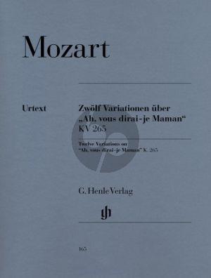 Mozart 12 Variationen Ah Vous Dirai-Je, Maman KV 265 Klavier (Ewald Zimmermann) (Henle-Urtext)