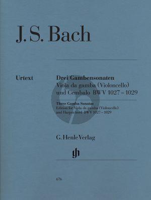Bach 3 Sonaten BWV 1027 - 1029 (Henle-Urtext)