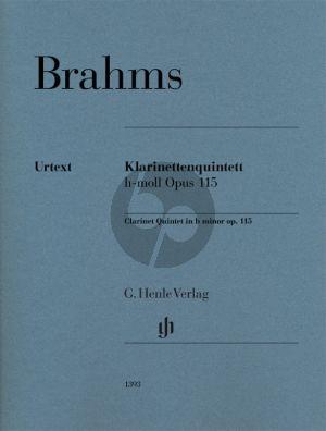 Brahms Clarinet Quintet b minor op. 115 for Clarinet (A) Parts (2 Violins Viola and Violoncello) (editor Kathrin Kirsch)