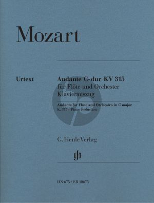 Mozart Andante C-dur KV 315 Flöte-Klavier (ed. Henrik Wiese) (Henle)
