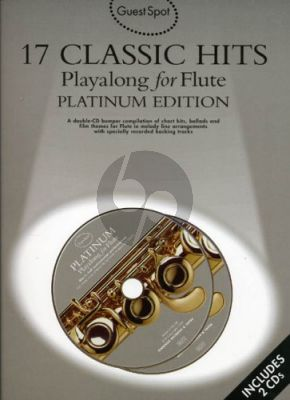 Guest Spot 17 Classic hits Playalong flute book-CD