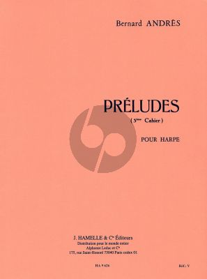 Andres Preludes Vol. 3 No. 11 - 15 Harpe (interm.level)